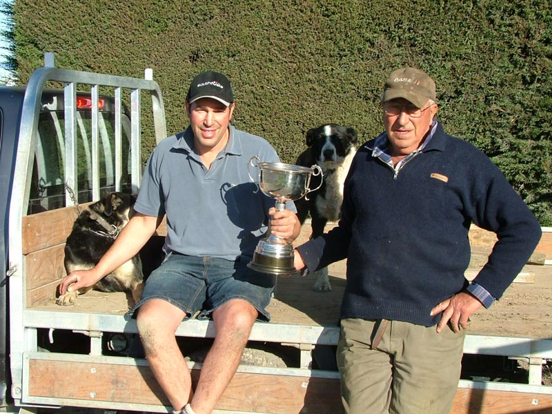 Chris and Dave Morrish with the Supreme Milling Wheat Cup