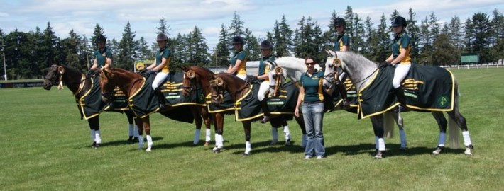 Luisetti Seeds dressage team