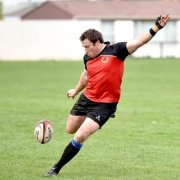 Brook Retallick gives the ball a mighty hoof to take Country to town.