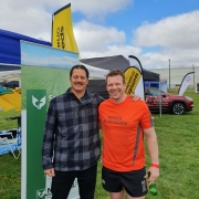 "Willie Apiata VC with Mark Frampton, Luisetti Seeds, Operations Manager and member of the New Zealand Grain and Feed Trade Association ""Gladiators"" Air Rescue Challenge team."