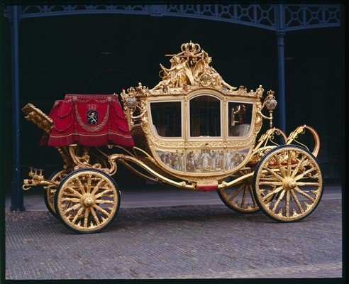 Queen Willemina's Golden Coach built by the Spyker Brothers in 1898